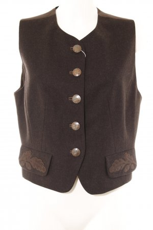 Resi Hammerer Traditional Vest dark brown material mix look