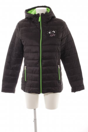 Result Quilted Jacket black-neon green quilting pattern casual look