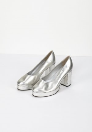RETRO 70ies Silberne Pumps