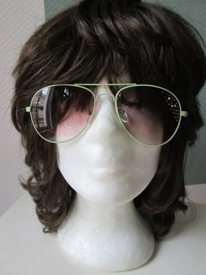 Bijou Brigitte Aviator Glasses pale green-lime-green