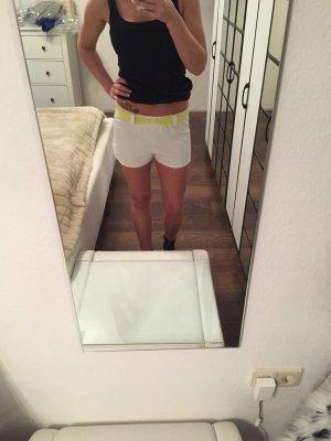 Retro Adidas Shorts weiß gelb Gr. 36