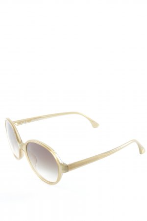 Retro Brille sandbraun Street-Fashion-Look