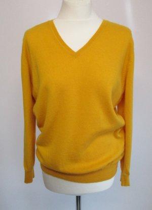 Clarina Jersey de lana amarillo-amarillo pálido lana merina