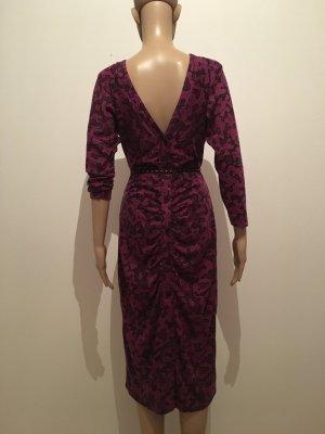 Longsleeve Dress black-violet mixture fibre