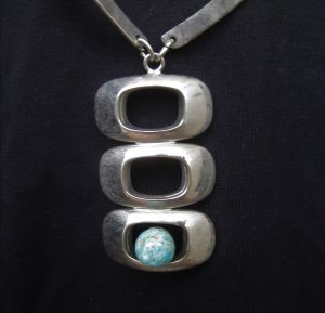Collier Necklace light grey-turquoise