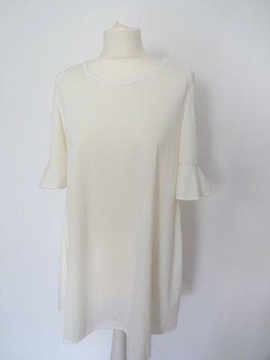 retro Kleid cremeweiß glöckchenärmel