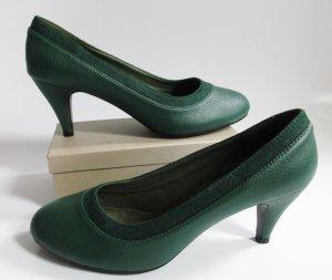 Retro Kunstleder Pumps Größe 41 Waldgrün Dunkelgrün Grün Tanz Schuhe Rockabilly Klassisch
