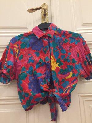 Hemdblouse rood-magenta