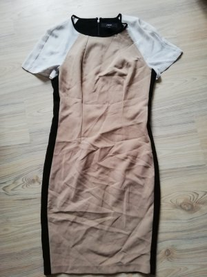 Retro kurzarm Kleid schwarz beige weiß Gr. UK 6 EUR 34 D 32 Next Minikleid