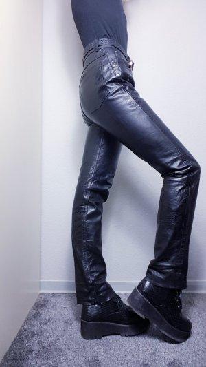 Vintage Pantalone in pelle nero