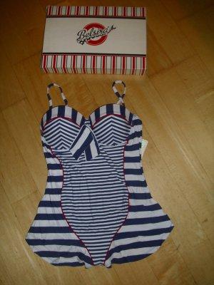 Swimsuit blue-white mixture fibre