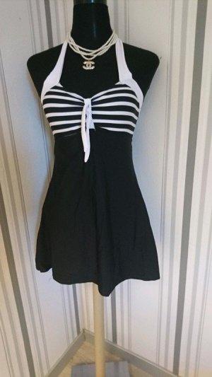 Retro Look Swimsuit/ Badeanzug Größe M in schwarz