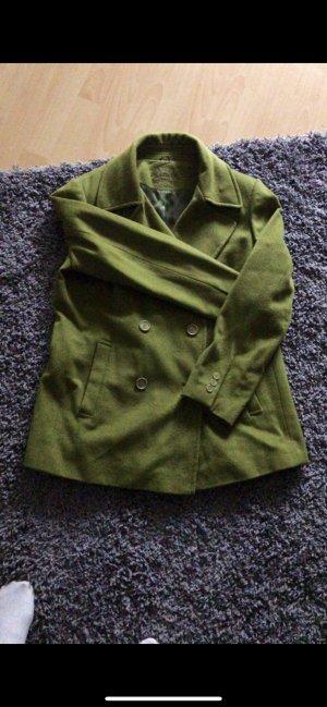 Cappotto in pile verde oliva-cachi