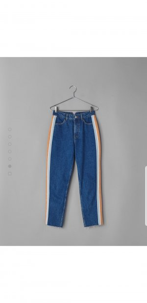 Retro mom jeans boyfriend jeans highwaist Streifen