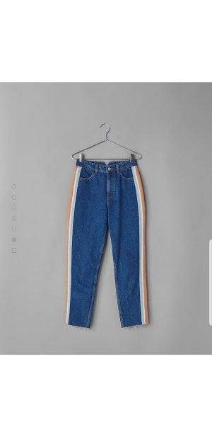 Bershka Jeans a vita alta blu