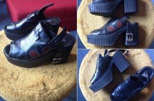 Platform High-Heeled Sandal black-russet