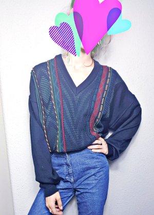 Retro Pullover, bunt, Streifen, opa, granny