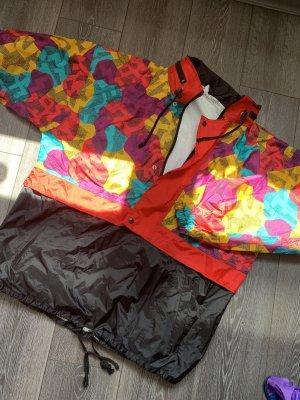 Regenjas zwart-rood