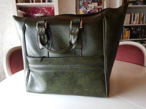 Retro Reisetasche in dunkelgrün