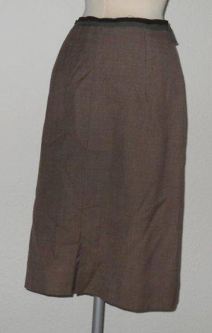 retro rockabilly Vintagerock Pencilskirt Gr. 38 M highwaist braun khaki büro