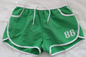 Retro-Shorts Hotpants Hose kurz Sport grün S/M