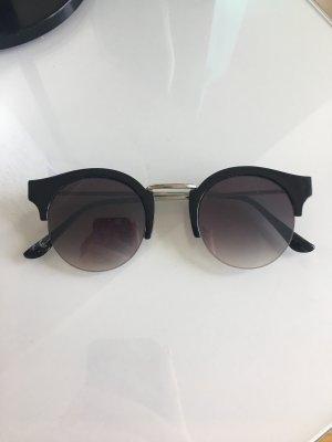Occhiale stile retro nero-argento