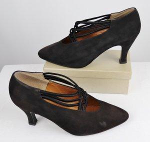 Street Chaussure à talons carrés noir cuir