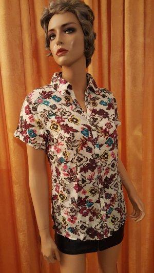 Retro Stoffdruck-Bluse mit Taillierung von Biaggini