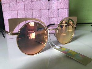 Retro Style Sonnenbrille Rosegold
