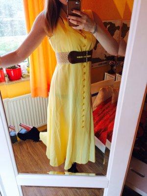 Retro! True Vintage! 50ies Midi Landhaus Kleid mit überkreuzten Trägern