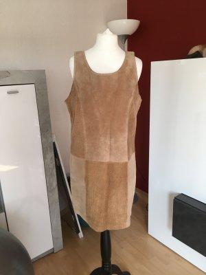 Retro Wildleder-Misch Kleid, 38