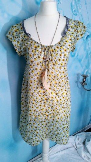 Retro Zara Basic geblümt Sommerkleid Gr S 36