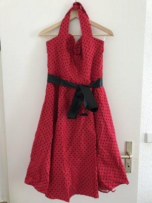 Retrokleid rot-schwarz gepunktet XL