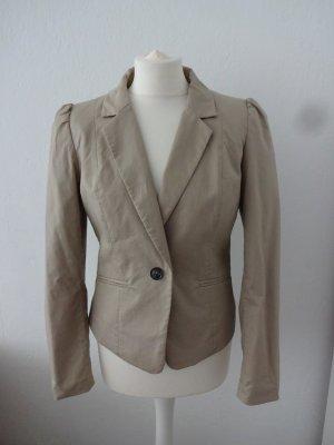 H&M Short Blazer beige cotton