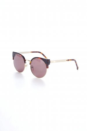 Retrosuperfuture Retro Brille braun-goldfarben Tortoisemuster