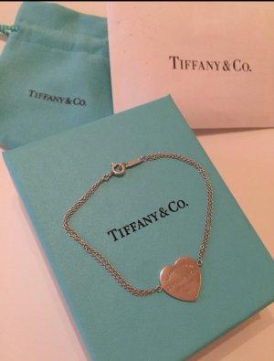 * Return to Tiffany & Co. * Armband* Silber * Mit Herzanhänger* 17cm lang