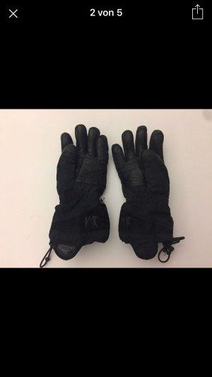 Reusch Skihandschuhe schwarz Leder innen Grösse 7,5