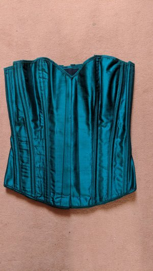 Revanche de la femme Corsage green silk