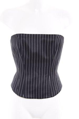Revanche de la femme Corsage wit-zwart gestreept patroon extravagante stijl
