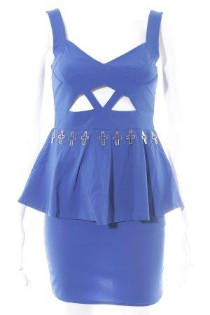 Reverse Minikleid blau extravaganter Stil