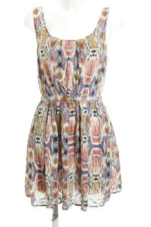 Review A-Linien Kleid abstraktes Muster Boho-Look
