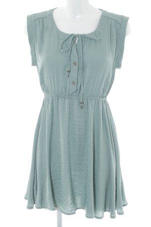 Review A-Linien Kleid graugrün Casual-Look