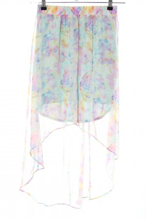 Review Asymmetry Skirt abstract pattern casual look