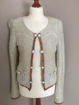 Review Knitted Blazer multicolored mixture fibre
