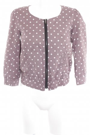 Review Blouson mauve-white spot pattern romantic style