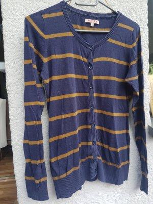 Review Cardigan chameau-bleu acier