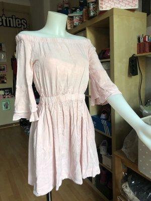 Review Vestido strapless rosa empolvado-rosa