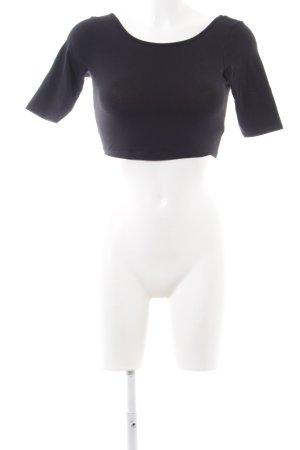 Review Cropped shirt zwart casual uitstraling