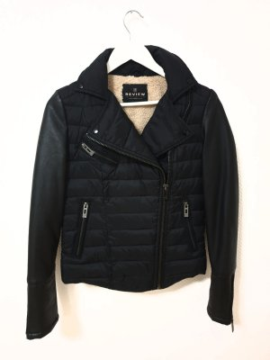 Review Fake Fur Jacket black-beige