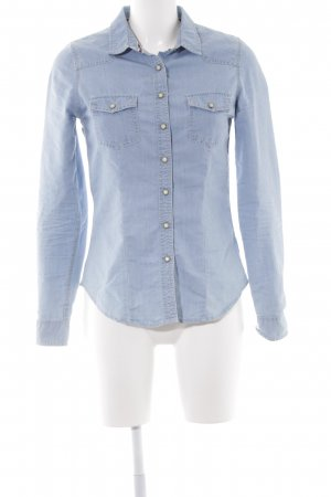 Review Hemd-Bluse hellblau Casual-Look